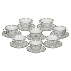 Limoges Bernaurdaud Artois  Set of Tea Cups and Saucers