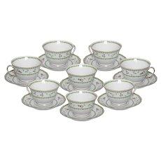 Limoges Bernaurdaud Artois  Set of Tea Cups and Saucers