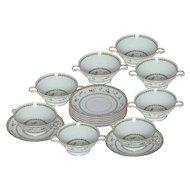 Limoges Bernaurdaud Artois Set of 8 Bouillon/Soup Bowls