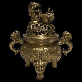 Oriental Bronze Incense with Exquisite Casting