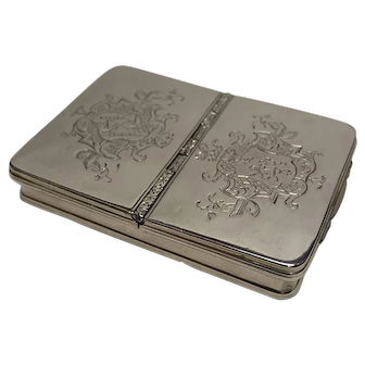 Sterling Silver Double Snuff Box