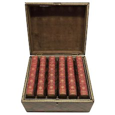 Scott's Poetical Works with Tartan Cases and Original Tartan Box