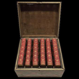 Scott's Poetical Works with Tartan Cases and Original Tartan Box