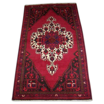 Persian Rug - 1990s Hand-Knotted Hamadan, 4' x 7' (2488)