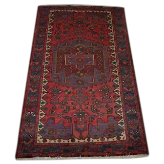 "Persian Rug - 1990s Hand-Knotted Hamadan, 4' x 6'10"" (2495)"