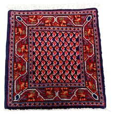 Persian Rug - 1980s Hand-Knotted Vintage Persian Mir-Sarouk (2791)
