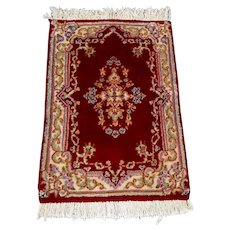 Persian Rug - 1980s Vintage, Hand-Knotted, Kerman (2808)