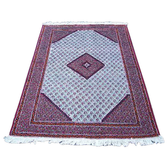 """Persian Rug - 1970s Hand-Knotted Ferdows-Balouch, 4' x 5'9"""" (2869)"""
