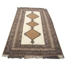 """Persian Rug - 1970s Hand-Knotted Ferdows, 4'1"""" x 7'2""""(3015)"""