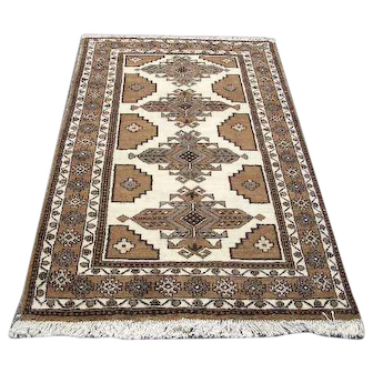 """Persian Rug - 1970s Hand-Knotted Ferdows, 3'10"""" x 6'5"""" (3016)"""