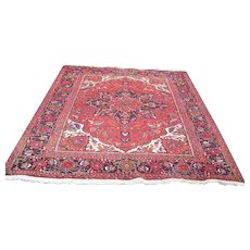 """Persian Rug 1970s Hand-Knotted Vintage Ahar Heriz, 6'10"""" x 9' (3026)"""