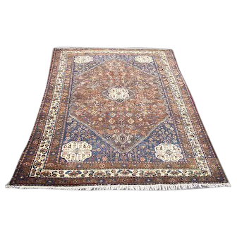 """Persian Rug - 1950s Hand-Knotted Abadeh, 4'10"""" x 6'6"""" (3263)"""