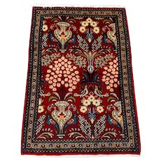"""Persian Rug - 1980s Hand-Knotted Sarouk,  2'3"""" x 3'3"""" (3341)"""