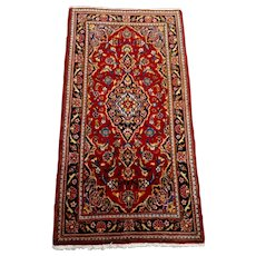 """Persian Rug - 1980s Hand-Knotted Vintage Kashan, 2'2"""" x 4'5"""" (3347)"""