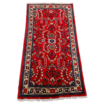 """Persian Rug - 1990s Hand-Knotted Vintage Sarouk, 2'3"""" x 4'5"""" (3351)"""