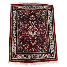 Persian Rug - Hand-Knotted 1990s Ghiassabad Sarouk Carpet (3413)
