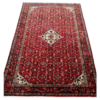 "Persian Rug - 1970s Hand-Knotted Hamadan, 6'11"" x 10'4"" (3500)"