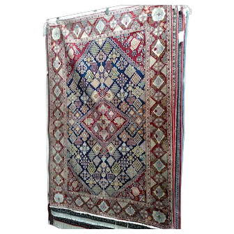 """Persian Rug - 1960s Hand-Knotted Vintage Josheghan, 4'7"""" x 6'10"""" (3507)"""