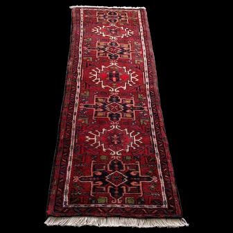 Persian Rug - 1990s Hand-Knotted Karaja Runner (3589)
