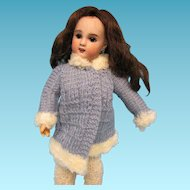 Hand Knit Winter Coat for Bleuette