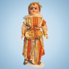 Antique German Bisque Mystery Doll in Original Middle Eastern Costume