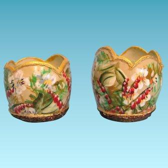 Miniature Jardinieres Picture Frame and Ceramic Vase