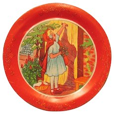 Ohio Art Co. Red Riding Hood Tin Plate