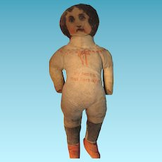 Korn Krisp Cloth Doll with Advertising Sign