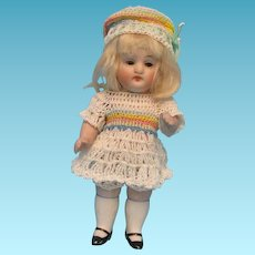 """5"""" Antique All Bisque Doll Unmarked"""