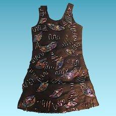 Black Beaded Flapper Dress