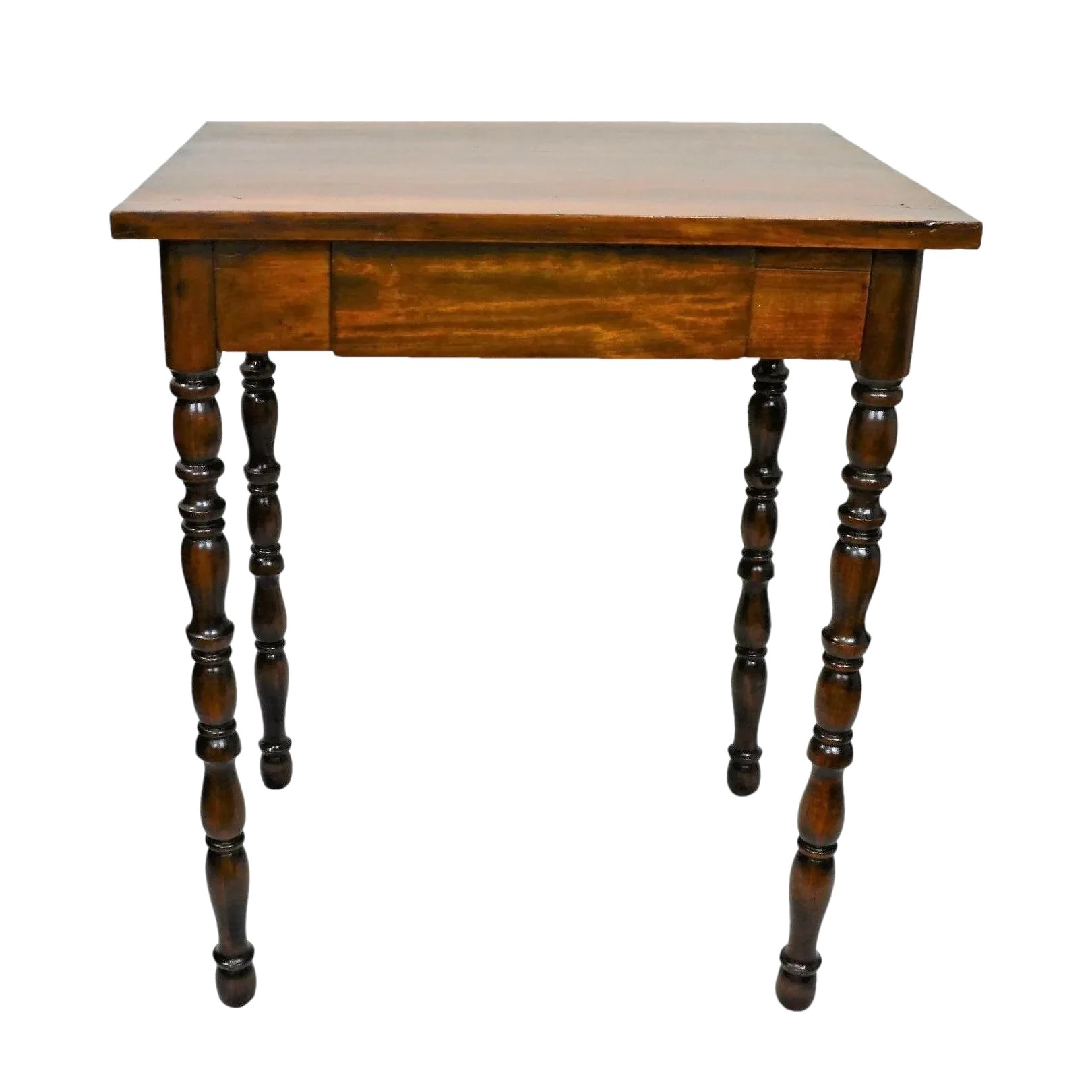 Small Antique Walnut Writing Table With
