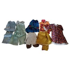 Homemade Doll Clothes 1970s 14-16 inch dolls