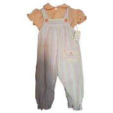 Cotton Candy Overall Set 0-6 months