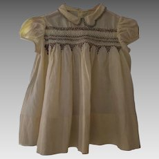 Vintage smocked & embroidered Infant Dress