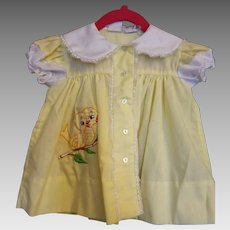 Vintage Yellow Dress 6-9 months approximately