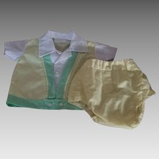 Vintage New Born 2 Piece Outfit Boys