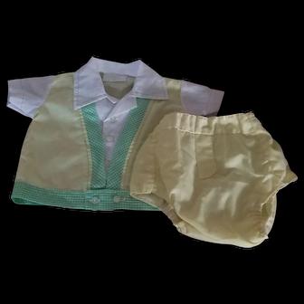 Vintage New Born 2 Piece Outfit Boys