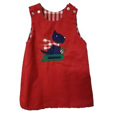 Toddler Reversible Dress, Scotty/School