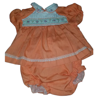 Lovely Infant 2 Piece Set with plastic lined diaper cover  0-3 months