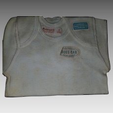 Original with tags 1930s New Baby Undershirt