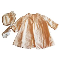 Beautiful Baby Coat and Bonnet Set