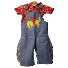 Vintage Toddle Time Toddler Western Overalls