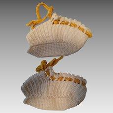 Vintage Crochet Open-toed Baby Shoe