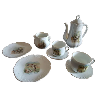 Antique 9 Piece Puss n Boots Tea Set