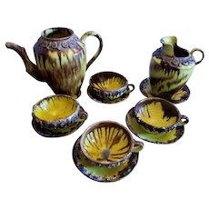 1930's Mexican Majolica Pottery 11 pieces