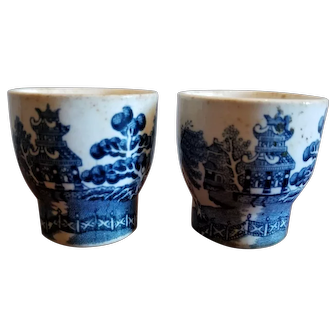 Pair of Arklow Willow Egg Cups