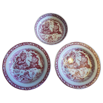 Punch and Judy Plates and Saucer