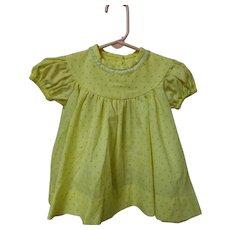 Vintage Yellow Rosebud Dress 6-12 months
