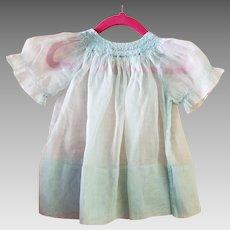 Antique Baby Dress: Blue