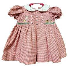 Vintage B.T. Kids Red Checkered Dress 6-9 months
